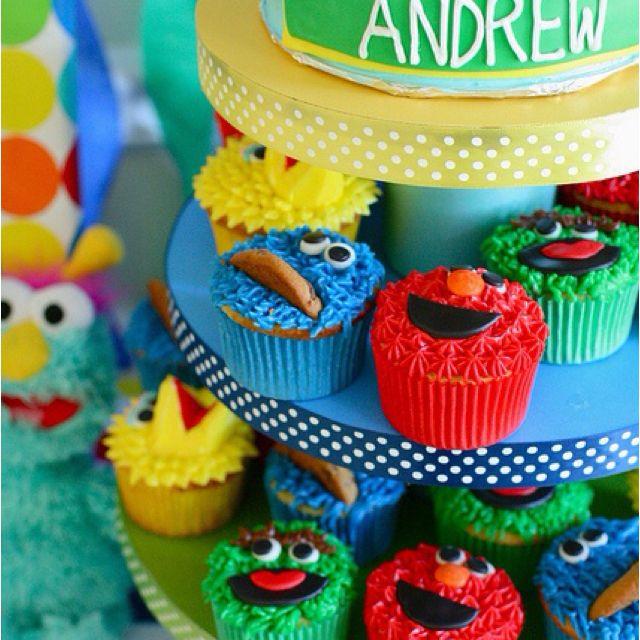 Love it:)   Sesame street cupcakes, Birthday cake kids ...