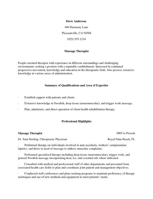 sample resume massage therapist exles perfect sle professional cover