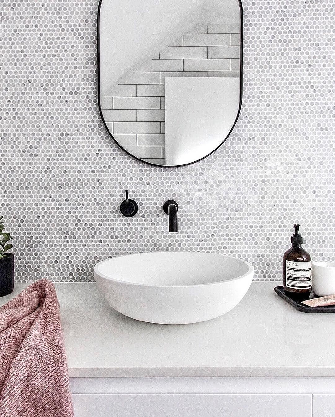 27 Best Bathroom Mirror Ideas For Every Style Oval Mirror Bathroom Round Mirror Bathroom Bathroom Mirror