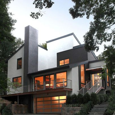 Exterior Photos Split Level Design Ideas, Pictures, Remodel, and