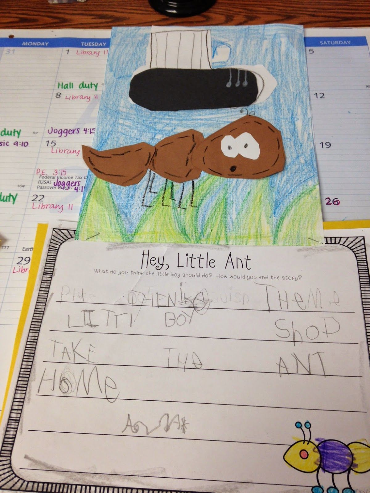 Opinion writing hey little ant