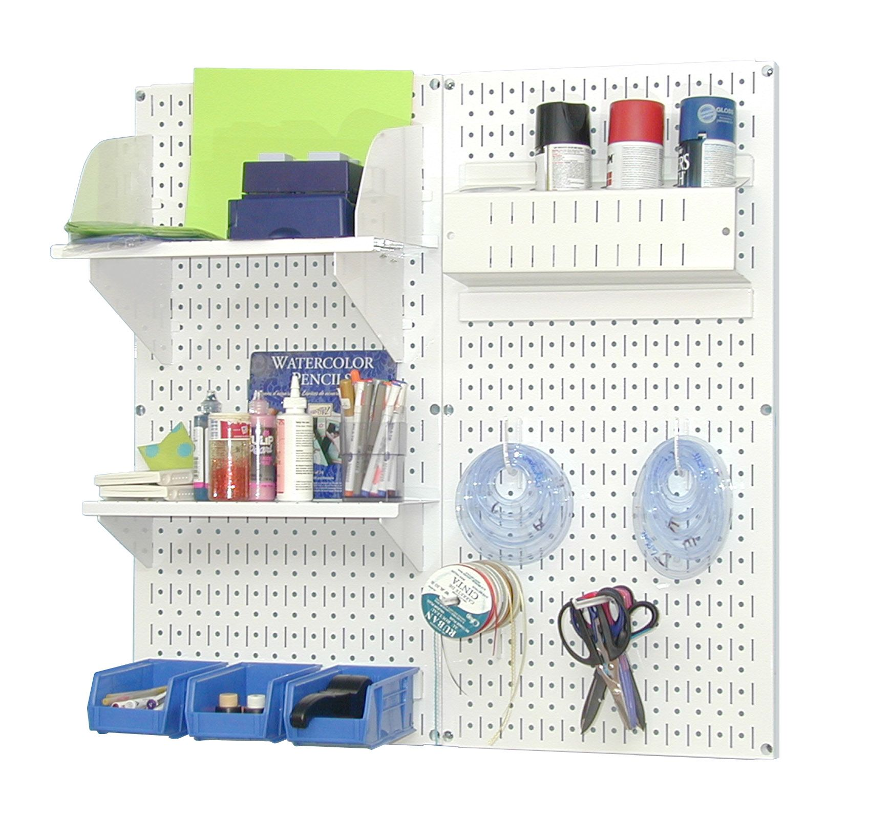 Craft Hobby Pegboard Organizer Kit White Pegboard With Accessories Ikea Craft Room Pegboard Organization Craft Storage Solutions