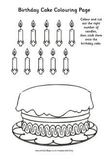 birthday cake colouring activity thema prentenboek nog 100 nachtjes slapen pinterest. Black Bedroom Furniture Sets. Home Design Ideas