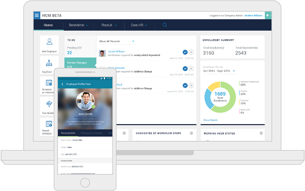 CareerBuilder Human Capital Management product screenshot