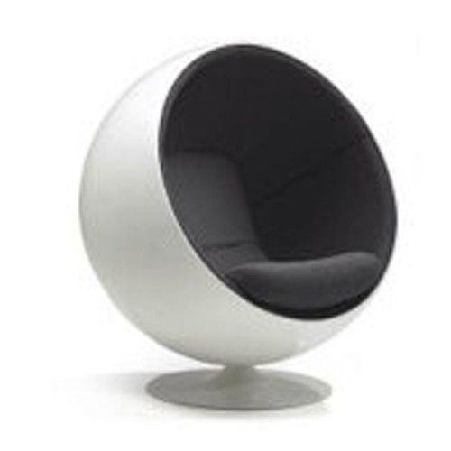 the ball chair eero aarnio replica black and white full size 595 95