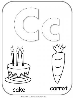 Letter C Alphabet Cards For Display Or Coloring Full Page Freebie Made By Teachers Alphabet Cards Letter C Crafts Alphabet Homework