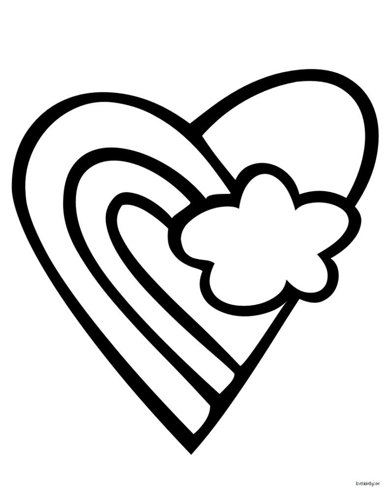 Heart Coloring Pages Heart Coloring Pages Valentine Coloring