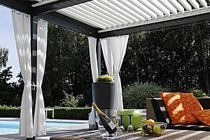 The Solisysteme Louvered Pergola (opening Patio Covers) Is A Sunscreen  System That Associates Shade
