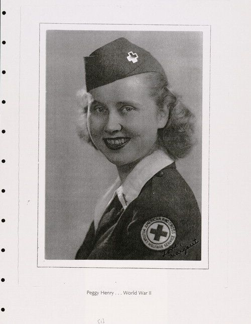 "Margaret ""Peggy"" Henry Fleming. Other member of Group F. Later she was assigned to Clubmobile ""BOISE"". Her tale is avaible in Memoirs: ""The Ardennes Revisited 1944-1994"". The Library of Congress American Folklife Center"