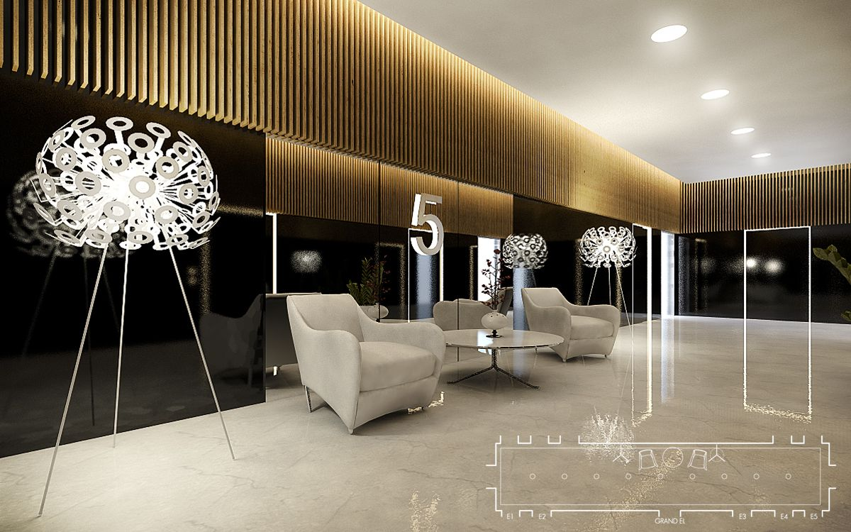 Office Building Modern Contemporary Luxury Lobby Interior Design