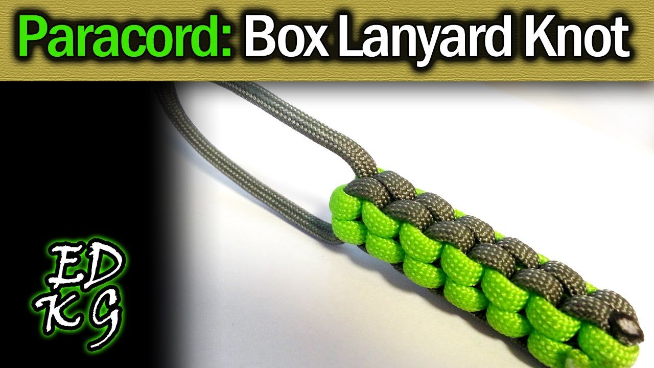 Simple Paracord Box Lanyard Knot Square Sinnet Fob With Images