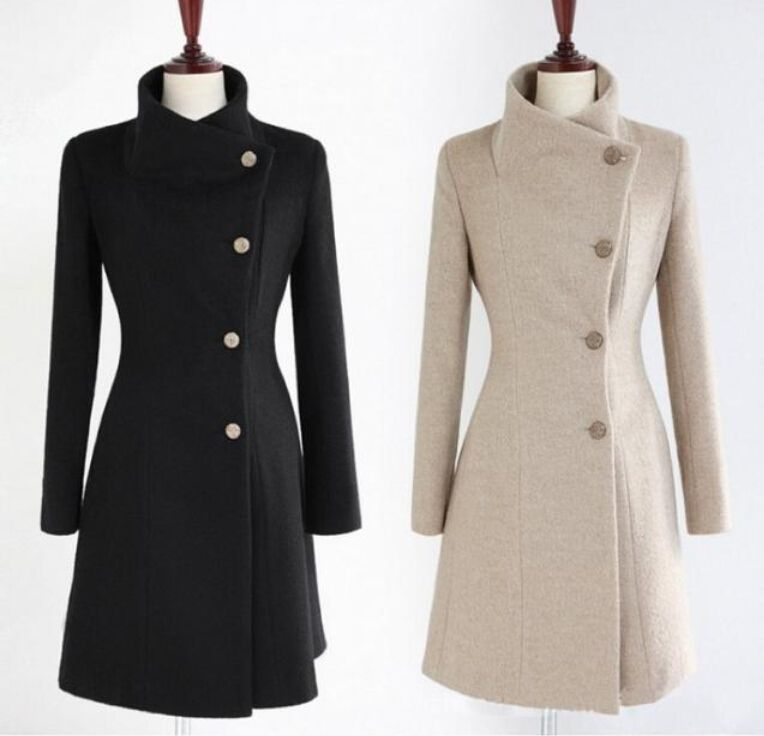 Wool Fitted Coat | Down Coat
