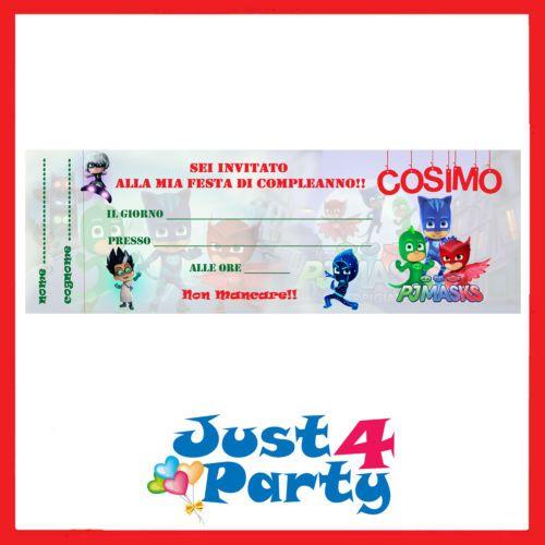 Inviti Festa Di Compleanno Pj Masks I Super Pigiamini 30 Inviti