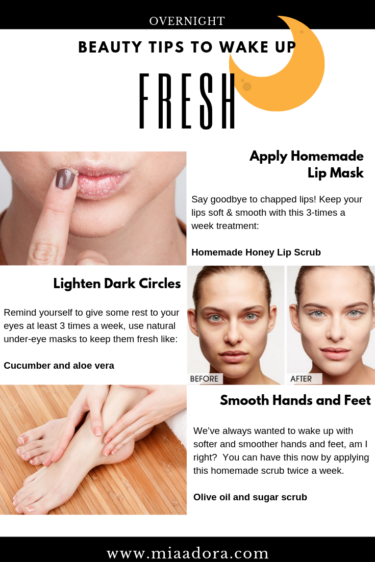 Overnight Beauty Tips To Wake Up Fresh  Daily natural skin care
