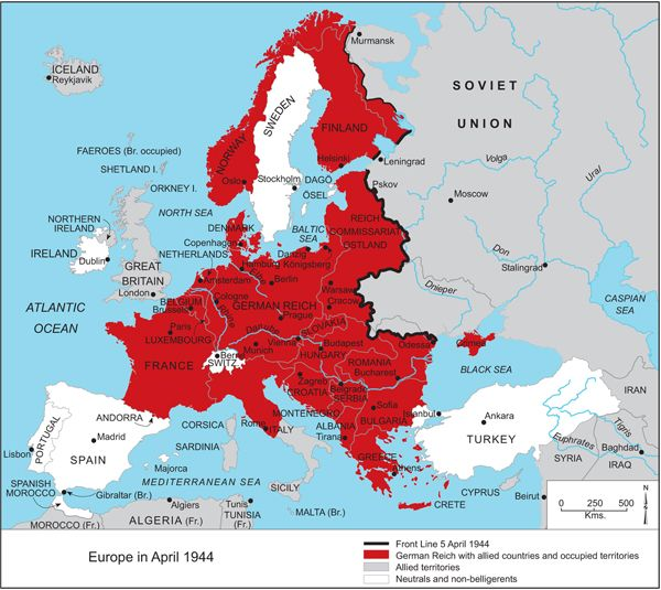 Europe in April 1944 mapping solutions, visualization, thematic ...