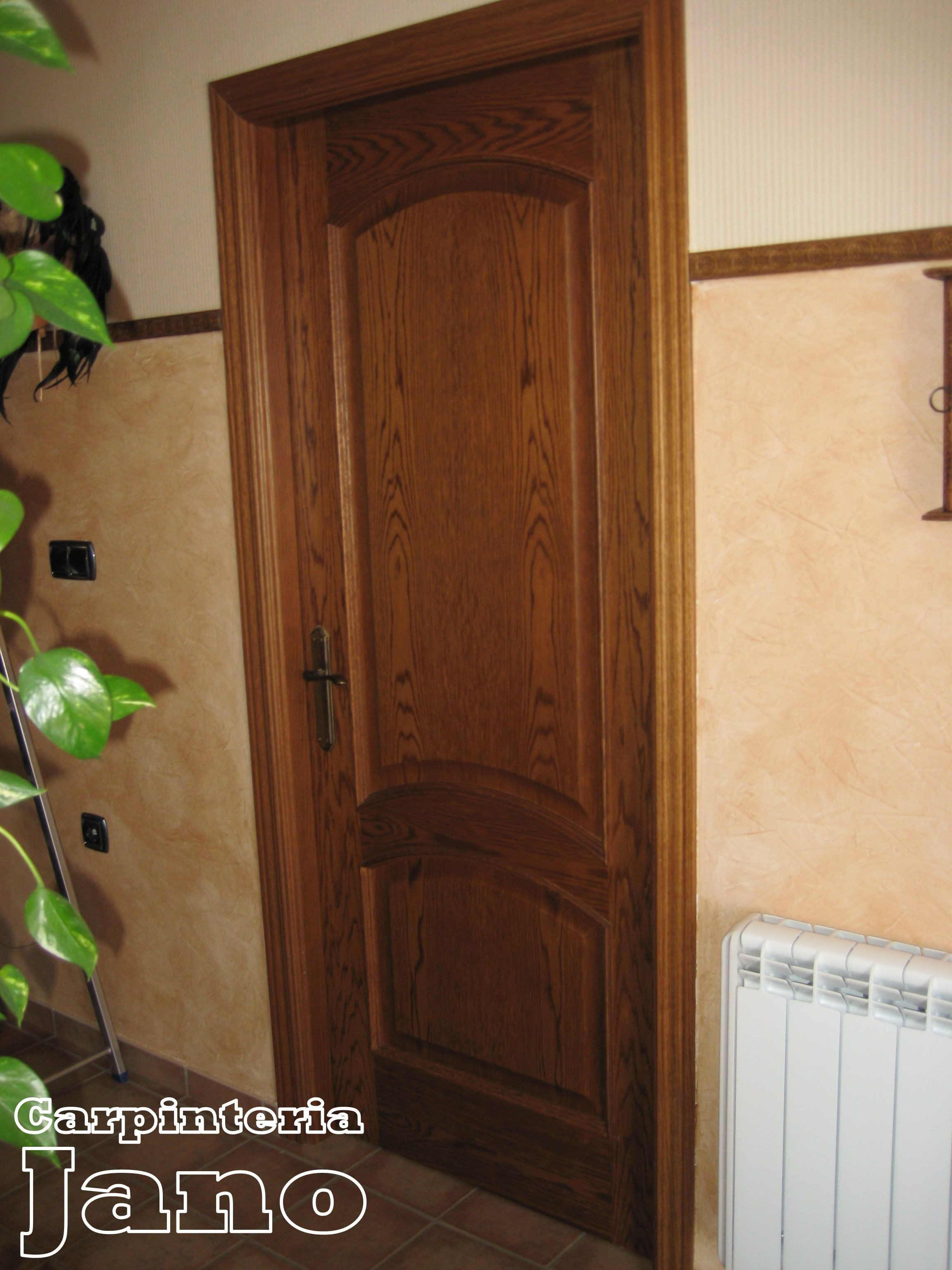 Puerta de roble teñida en color nogal. | Puertas | Pinterest | Roble ...