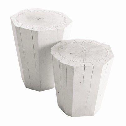 White Tree Stump Side Tables Ideas Pinterest Tree Stump Side - White tree stump side table