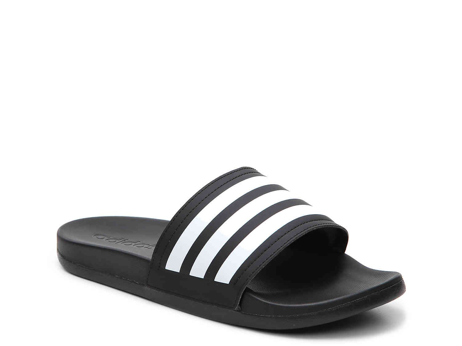 Adilette Cloudfoam Ultra Stripes Slide Sandal
