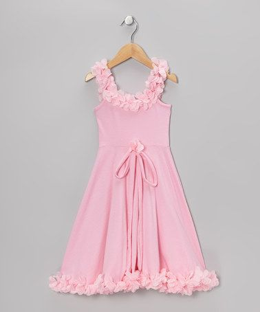 Take A Look At This Dusty Rose Vintage Rosette Dress
