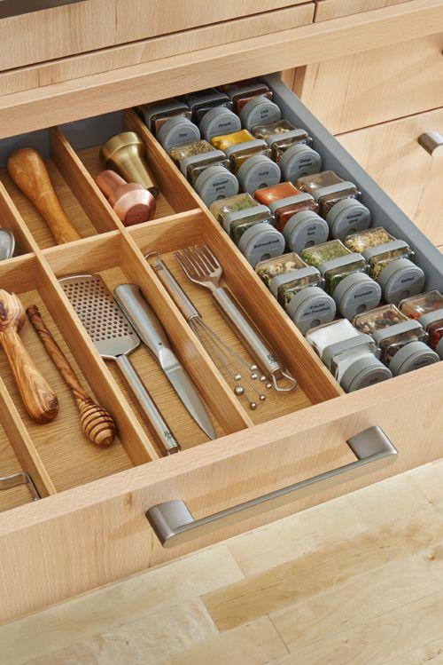 Ordnung in der Gewürzauswahl Mit den intelligenten - Küche Einrichten Ideen