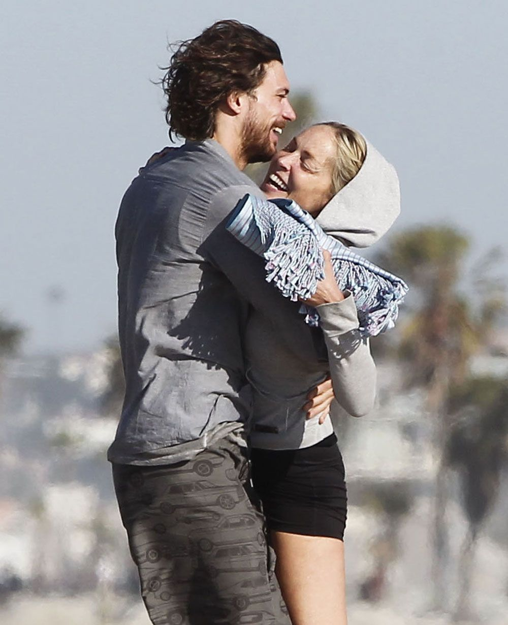 Sharon Stone and her new boyfriend, a 27 year-old model from Argentina named Martin Mica   Old