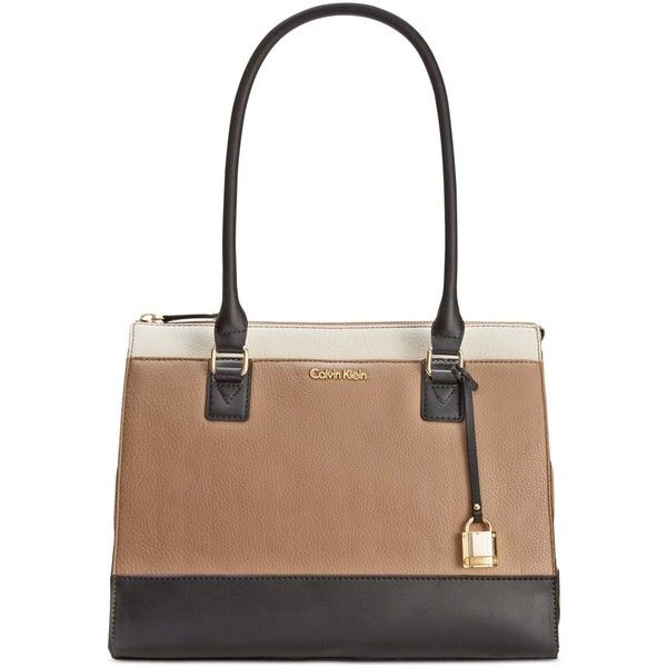 b4f3a34b6f Calvin Klein Modena Pebble Tote ($178) ❤ liked on Polyvore featuring bags,  handbags