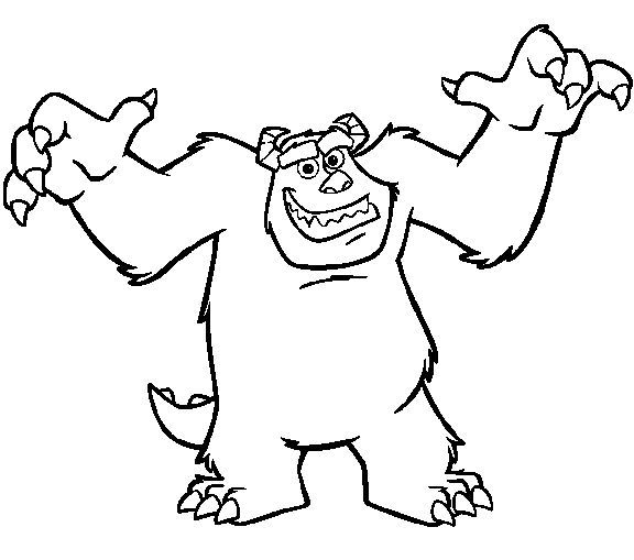 Sullivan Monsters Inc Coloring Pages Coloring Pages Monsters Inc Sullivan Monsters Inc