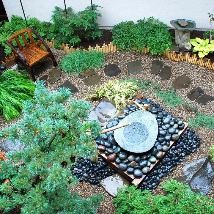 Small Japanese Garden Design Ideas With Small Fountain Small Japanese Garden Japanese Garden Japanese Garden Landscape