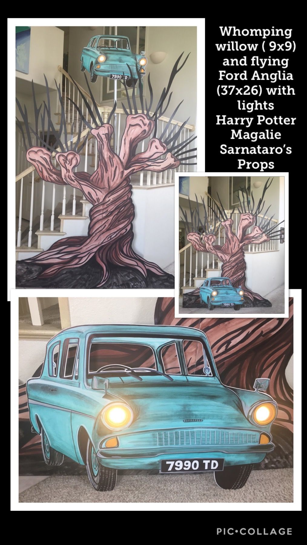 Whomping Willow And Ford Anglia Vignette Harry Potter Willow 9x9