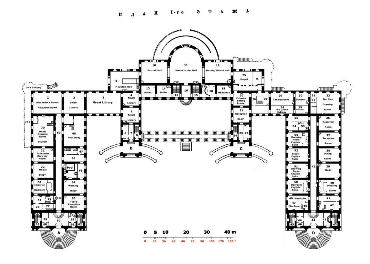 Alexander palace first floor plan all kinds of homes for Palace plan