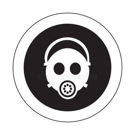 Breathing mask on man vector icon  Stock Vector