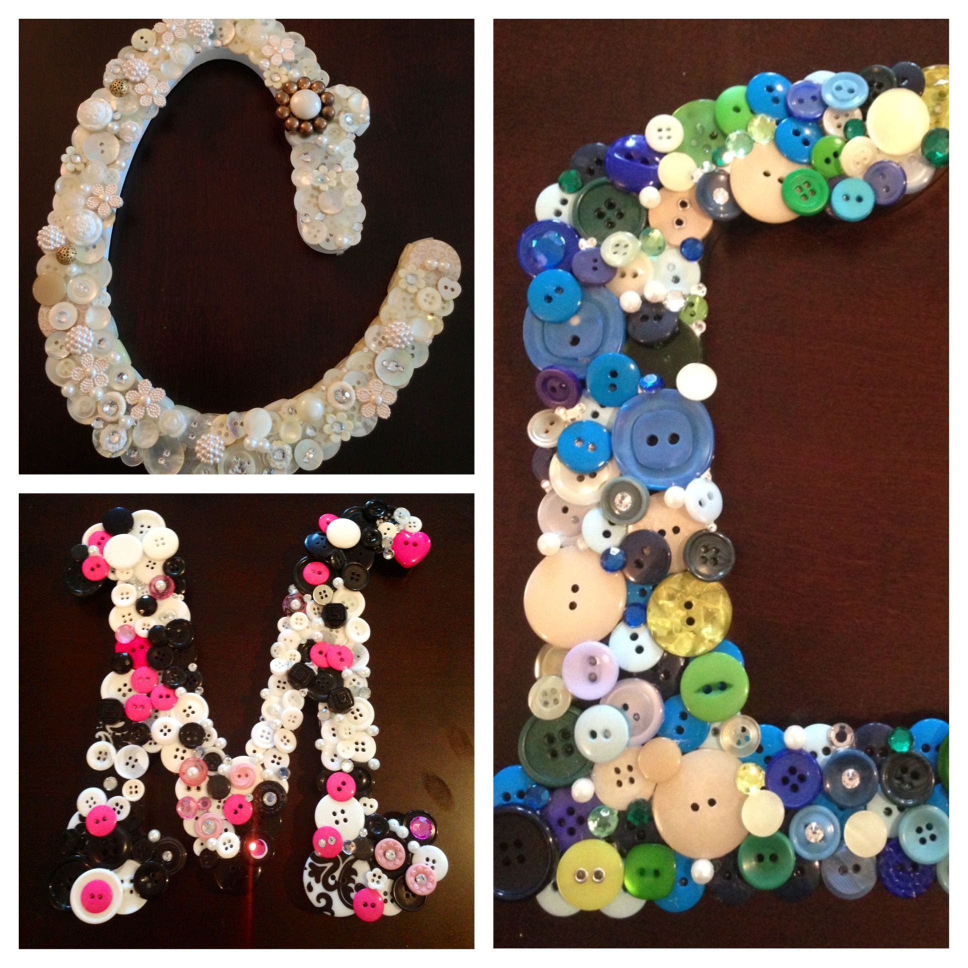 Button Art Completed Letters C L And M So Far Cbm