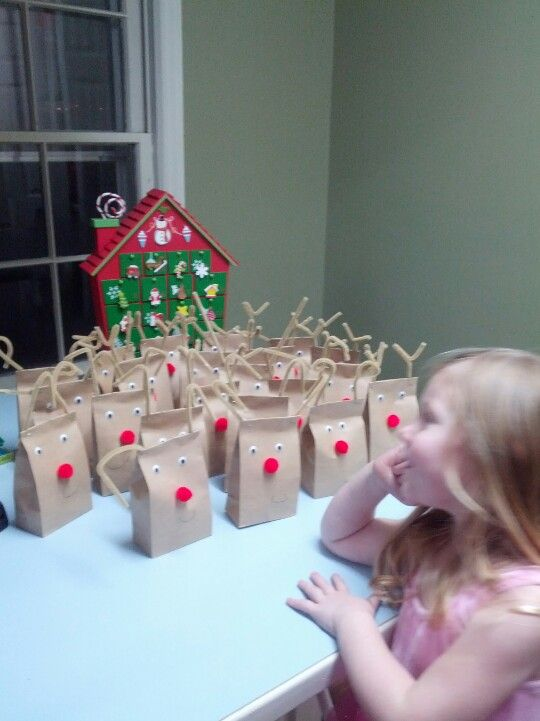 Treat Bags For Daycare Classmates Class Christmas Gifts