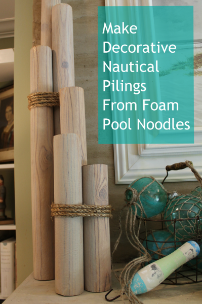 Beachy party- pool noodle pilings