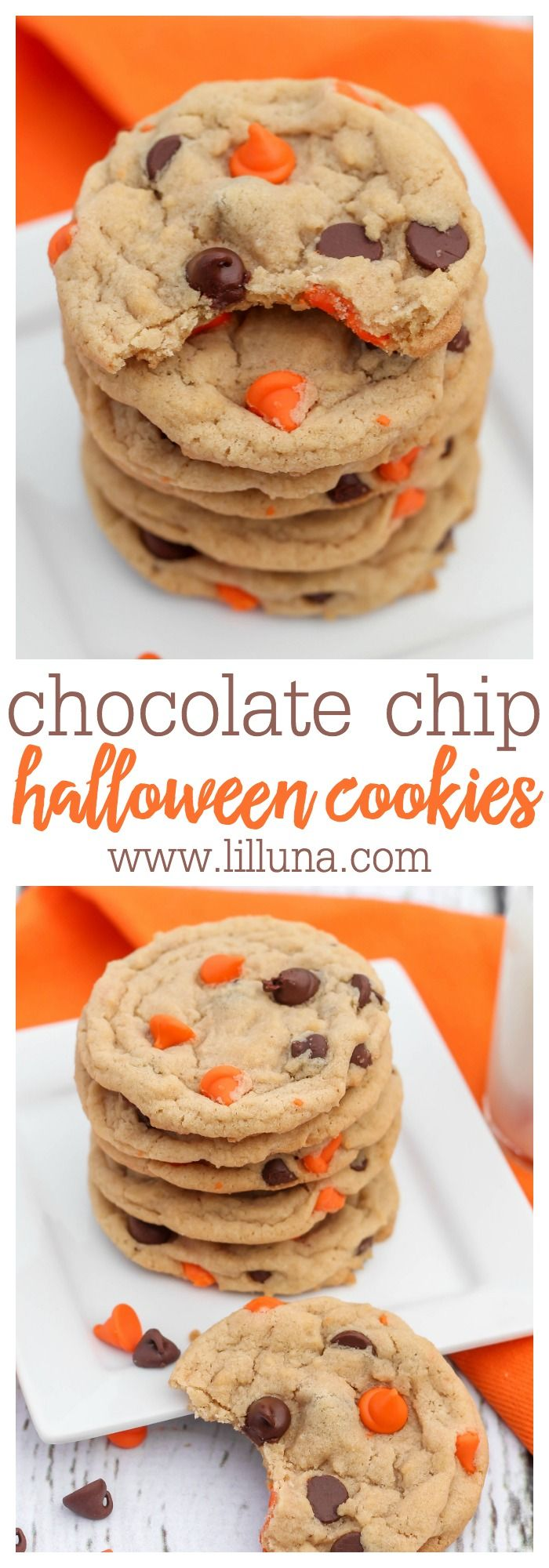 halloween chocolate chip cookies - easy, festive and delicious