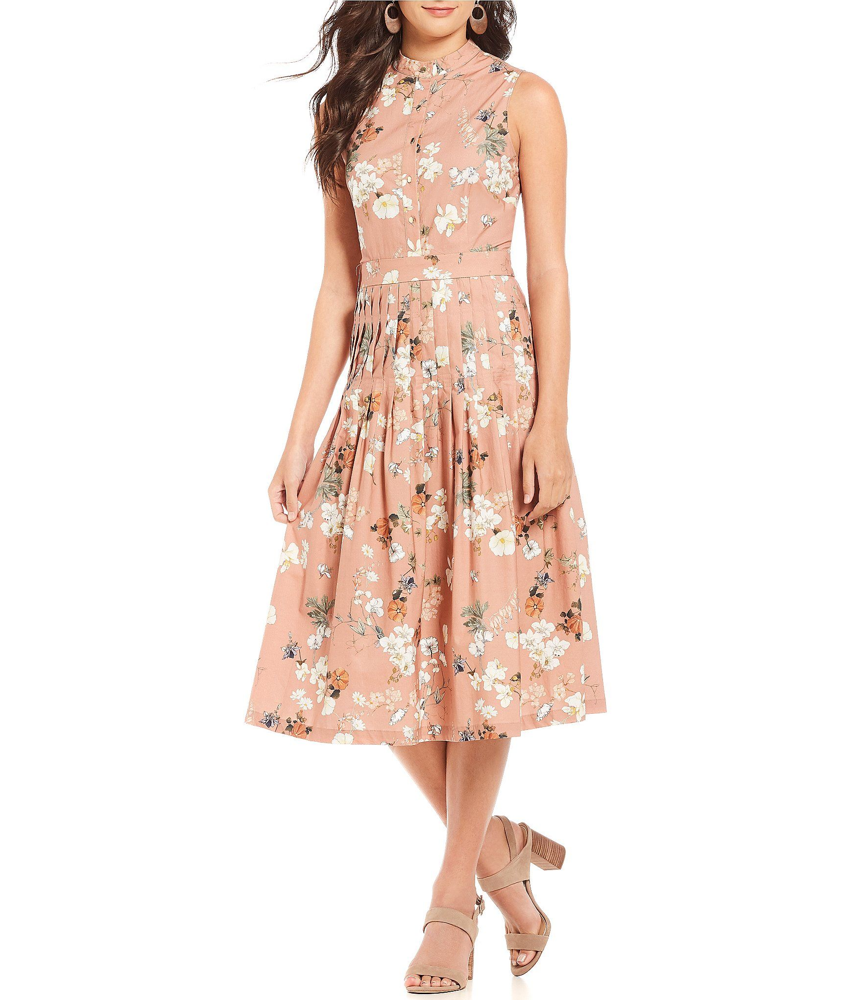 e450d2e3e7c Antonio Melani Connie Floral Print Midi Dress  Dillards