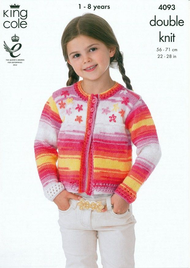 Cardigan and Pullover in King Cole DK (4093) | Deramores | Kids ...