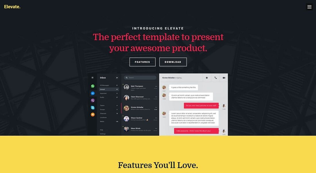 Resume Website Template Elevate Free Html Website Template  Projects To Try  Pinterest