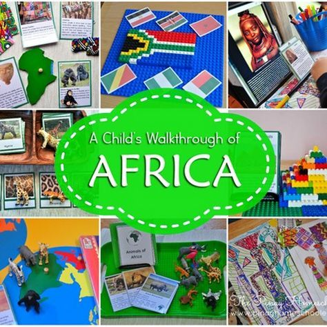 A Continent Study Of Africa For Kids Continents Activities Montessori Geography Africa