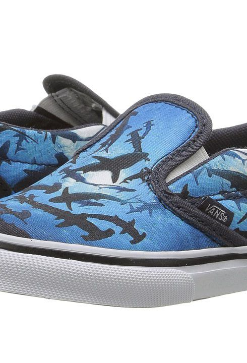 b811e866eb09 Vans Kids Slip-On V (Toddler) ((Digi Shark) Parisian Night True ...