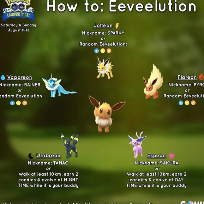 Pokemon Go Eevee How To Get Every Eeveelution In The Game Pokémon Go Hub In 2021 Eevee Pokemon Go Pokemon Eevee Evolutions Pokemon