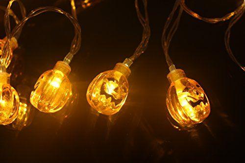 Tozz Pro Battery Operated LED Fairy String Lights 20 Orange Pumpkin