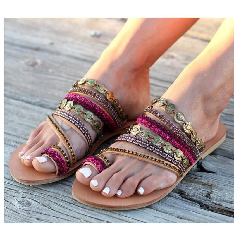 674376e2dd What is Boho-chic? - Quora | Coolefy Sandals in 2019 | Sandals, Flat ...