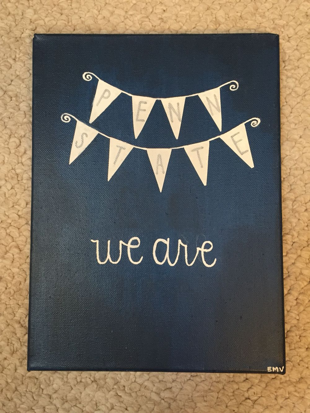 Penn State Bunting Canvas Pennstate Canvas Diy Weare Dorm