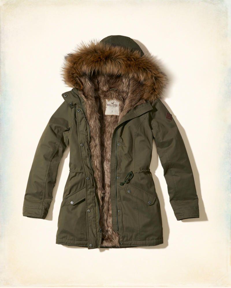 Girls Faux Fur Lined Parka | Girls Jackets & Outerwear ...