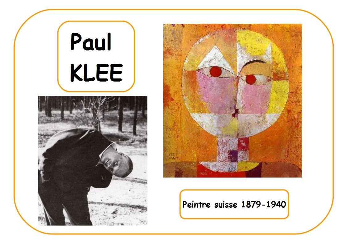 Extrem Paul Klee - Portrait d'artiste selon Fabienne | Artiste  MJ48