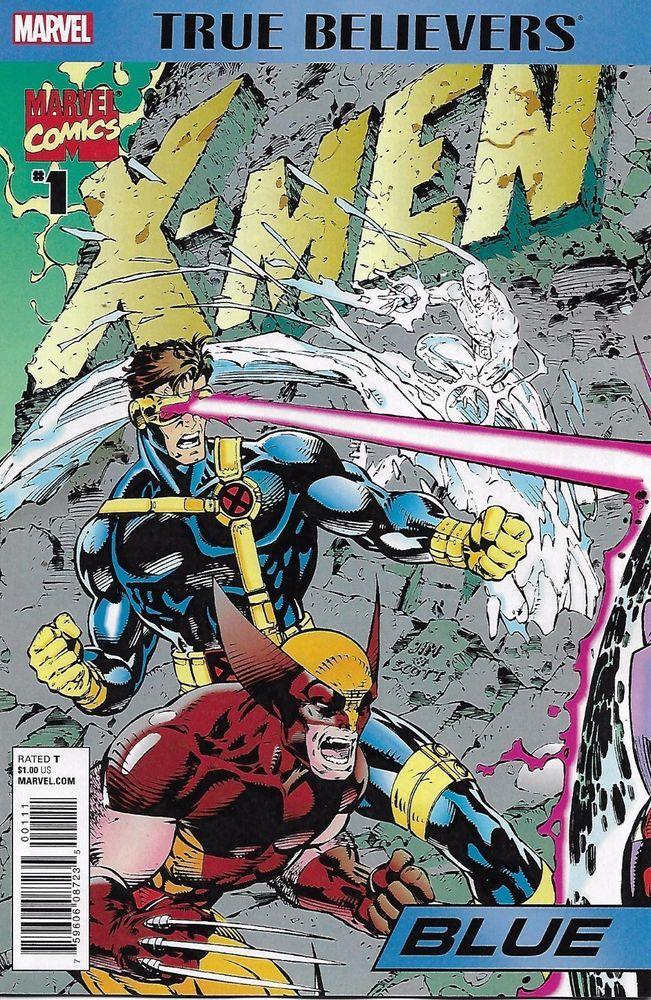 Marvel X Men Blue Comic Issue 1 True Believers Jim Lee Art Comics Comic Covers