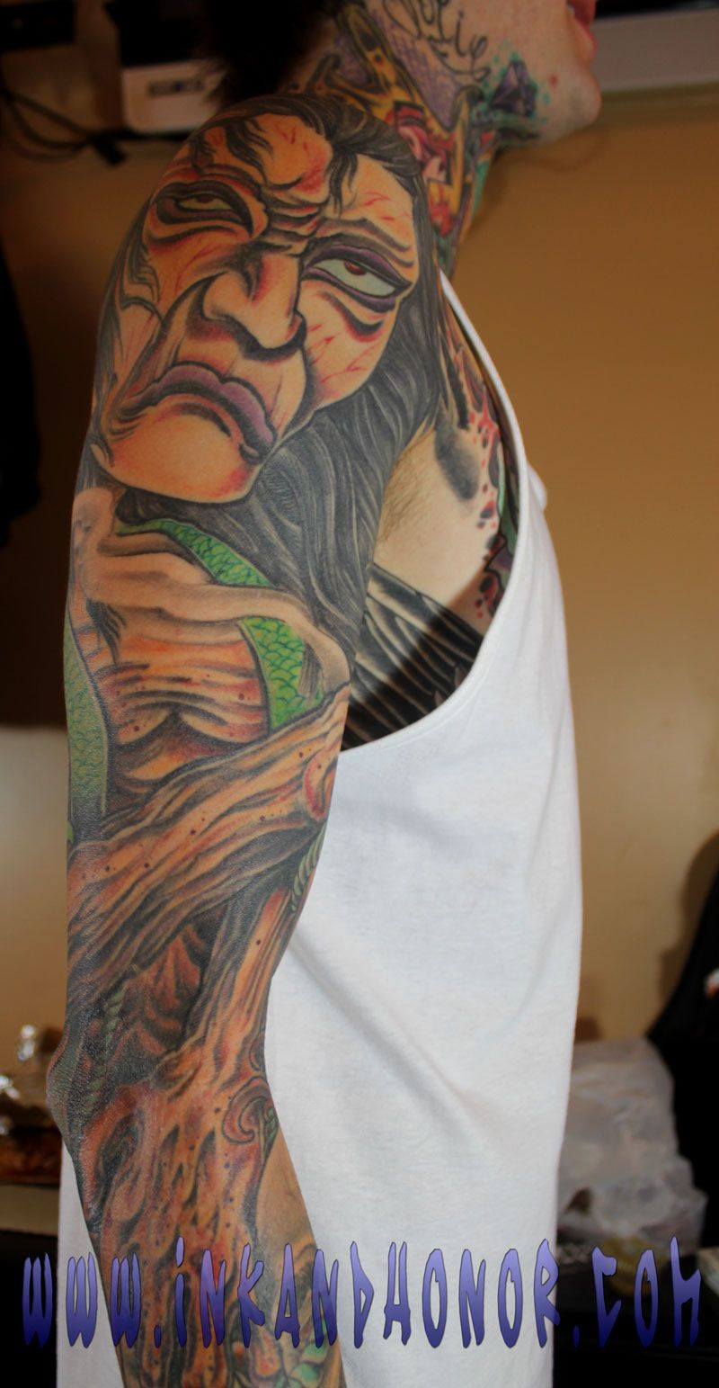 Mitch lucker right arm suicide silence body for Tattoos on right arm