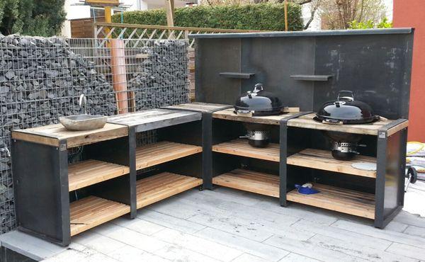 Outdoorküche Zubehör Xxl : Eck variante xxl wood und concrete line ideen ideen