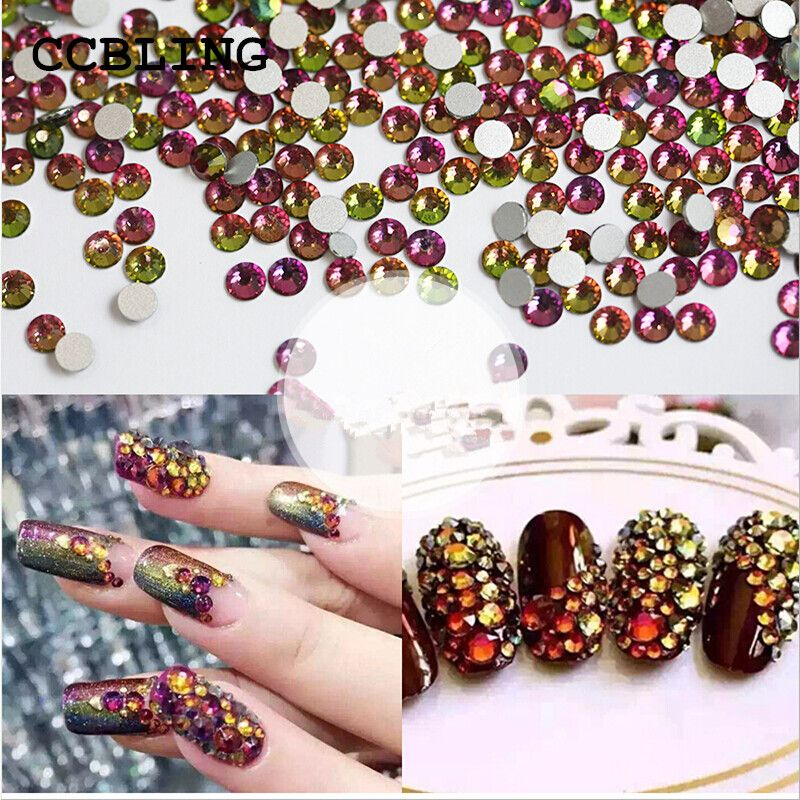 Best Rhinestones ss3-ss30 Crystal Rainbow decorations for 3d Nail ...